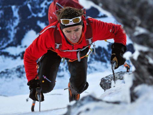 Ueli Steck climbing